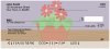 Potted Flowers Personal Checks | FLO-98