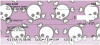 Skulls and More Skulls Personal Checks | GCA-14