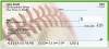 Green & Yellow Baseball Team Personal Checks | SPT-19