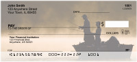 Fishing Silhouettes Personal Checks | GCB-47