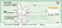 Give Peace A Chance It's Happy Bunny Personal Checks | IHB-16