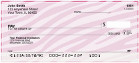 Zebra Pattern Personal Checks | OPC-11