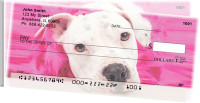 Pit Bull Puppies Side Tear Personal Checks | STGCA-02