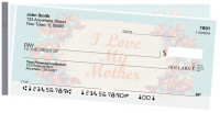 Mother's Day Side Tear Personal Checks | STLOV-25
