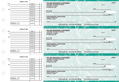 Teal Marble Accounts Payable Business Checks | BU3-EMA01-DED