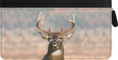 Big Horned Buck Zippered Checkbook Cover | CLZ-ANK71
