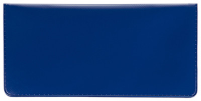 Blue Vinyl Side Tear Checkbook Cover | CVS-BLU01