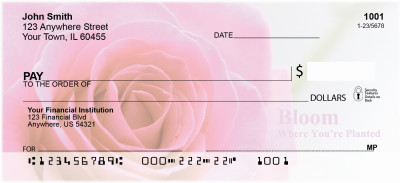 Bloom Where You're Planted Personal Checks | FLO-04