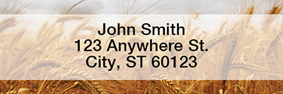 Harvest Time Rectangle Address Labels | LRFOD-07