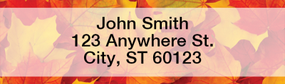 Fall Leaves Narrow Address Labels | LRFUN-76