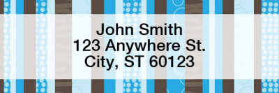 Modern Stripes Narrow Address Labels | LRGEO-13