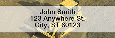 Construction Equipment Narrow Address Labels | LRPRO-43