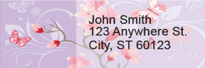 Cherry Blossoms Rectangle Address Labels | LRRGEP-94