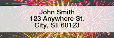 Fireworks Narrow Address Labels | LRSCE-03