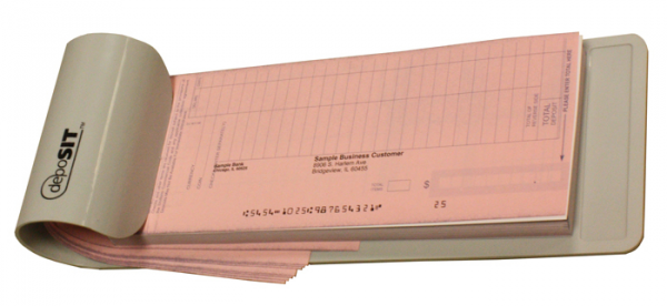 "Compatible with 5"" tickets.   Our deposit ticket book holder keep your business in ready cash with faster processing of bank deposits! Convienient holder is made of durable lightweight plastic."
