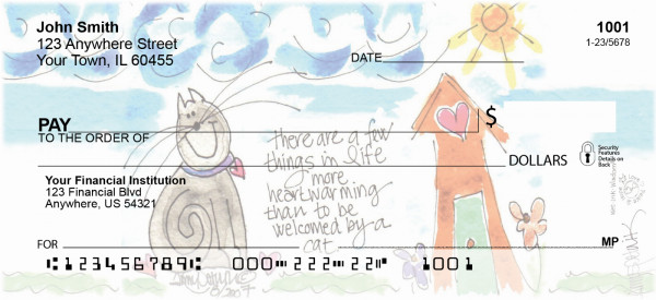 Home Sweet Home Personal Checks by Amy S. Petrik | AMY-17