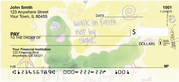 Corinthian Caterpillar Personal Checks | AMY-22