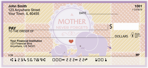 A Mother's Love Personal Checks | ANI-004