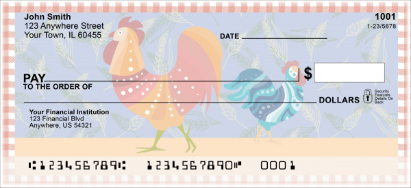 Country Rooster Personal Checks | ANI-013