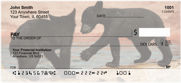 Black Bear Cubs Personal Checks | ANI-44