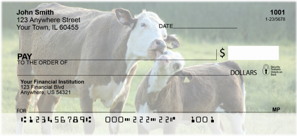 With Baby Calves Personal Checks | ANJ-30