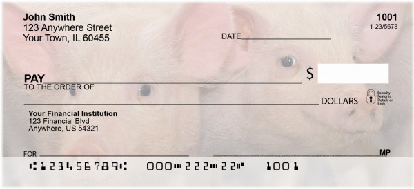 More Pig Personal Checks | ANJ-58