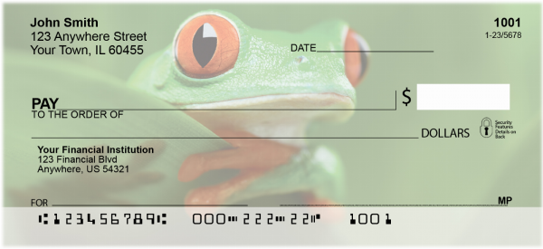 More Tree Frogs Personal Checks | ANJ-A9