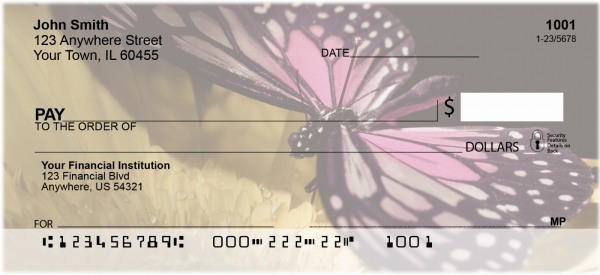 Butterfly Perspective  Personal Checks | ANK-09