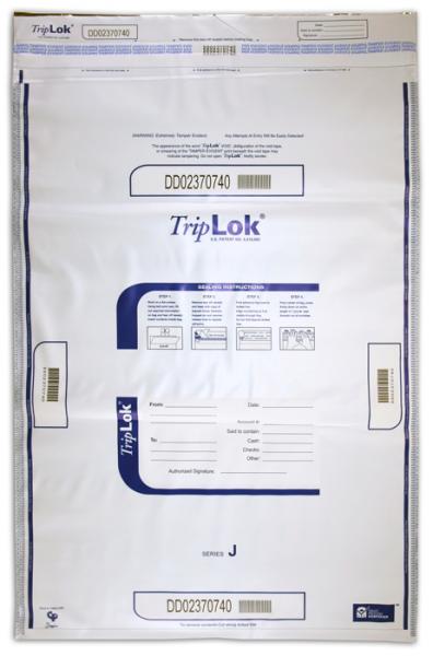 Deposit Bag 22'' X 33'' TripLok, white
