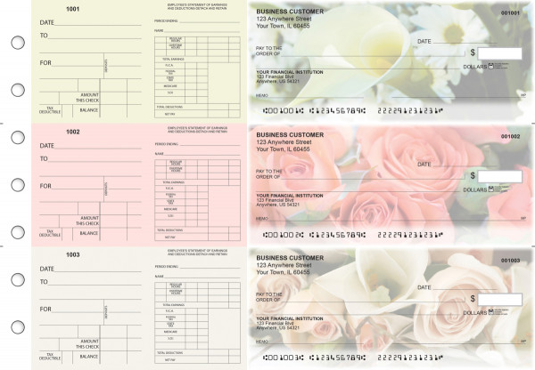 Florist Dual Purpose Voucher Business Checks | BU3-7CDS11-DPV
