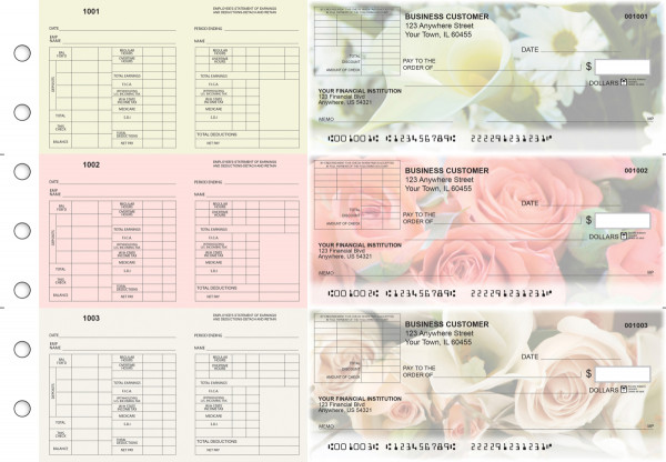 Florist Multi-Purpose Corner Voucher Business Checks | BU3-7CDS11-MPV