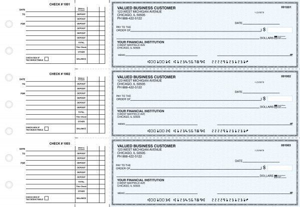 Blue Safety Accounts Payable Business Checks | BU3-BLU01-DED