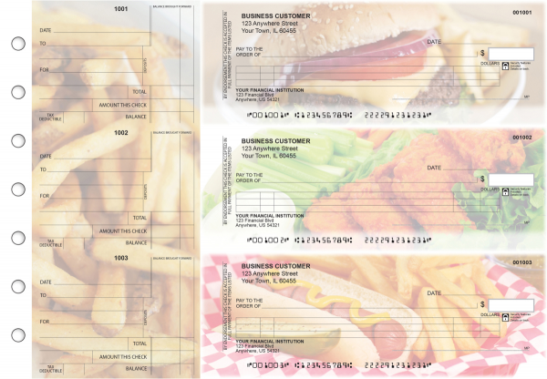 American Cuisine Itemized Counter Signature Business Checks