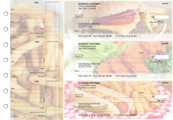 American Cuisine Standard Counter Signature Business Checks