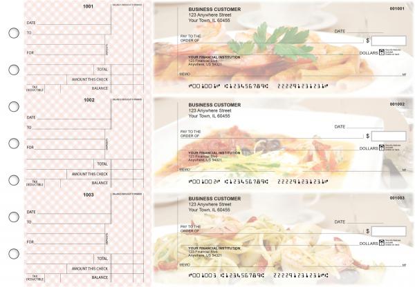 Italian Cuisine Standard Counter Signature Business Checks