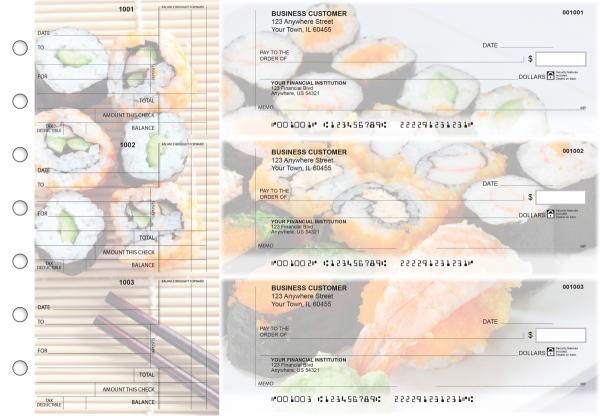 Japanese Cuisine Standard Counter Signature Business Checks