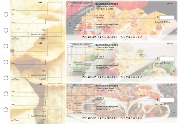 Mexican Cuisine Standard Itemized Invoice Business Checks