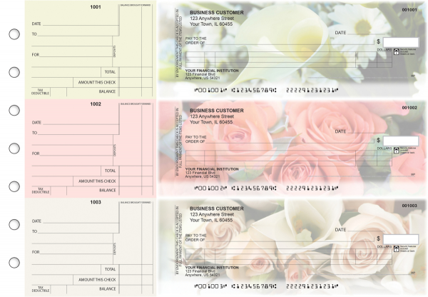 Florist Itemized Counter Signature Business Checks