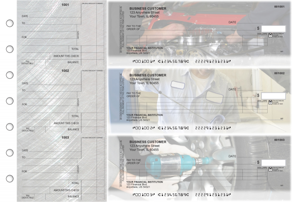 Mechanic Itemized Counter Signature Business Checks