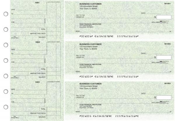 Grassy Standard Counter Signature Business Checks