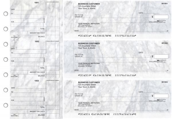 Marble Standard Counter Signature Business Checks