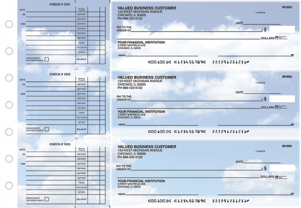 Clouds Accounts Payable Designer Business Checks | BU3-CDS21-DED