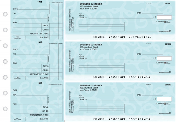 Swirls Standard Invoice Business Checks | BU3-CDS24-SNV