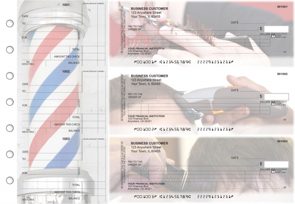 Barber Itemized Counter Signature Business Checks