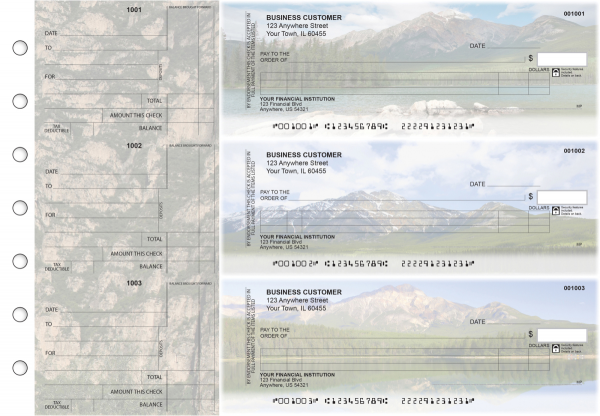 Scenic Mountains Itemized Counter Signature Business Checks