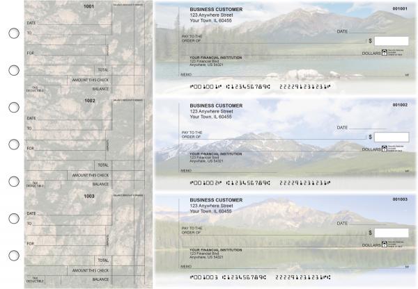 Scenic Mountains Standard Counter Signature Business Checks