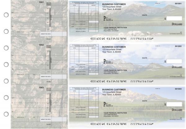 Scenic Mountains Itemized Invoice Business Checks