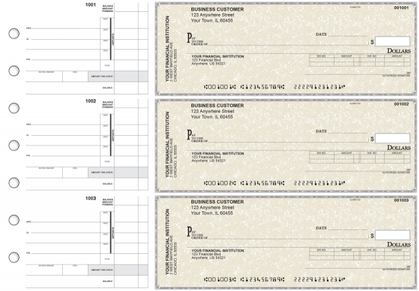 Tan Parchment Invoice Business Checks