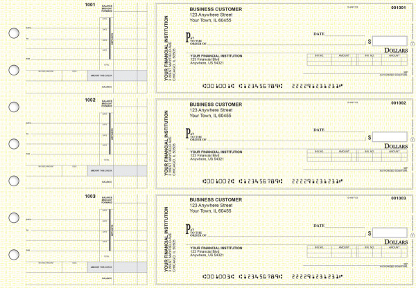 Yellow Knit Invoice Business Checks | BU3-YEL02-INV
