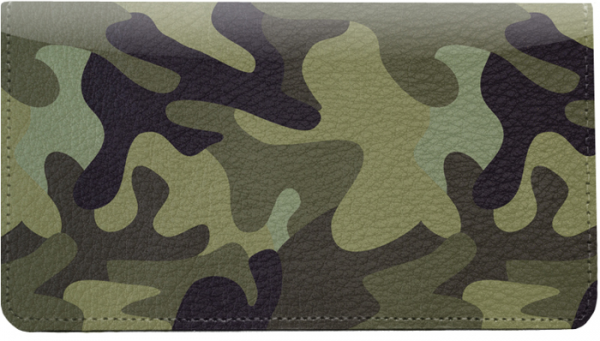 Camouflage Browns and Golds Leather Cover